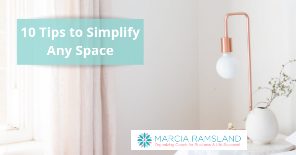 tips to simplify any space